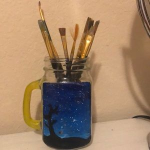 Other - This is a glass jar can hold pens,pencils etc
